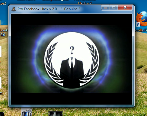 Facebook Hack By Anonymous V0.1
