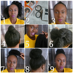 styles to do with natural hair African Naturalistas Natural Hair Style Faux Bun 2 Ways