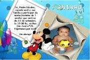 Fran23: Convites de Aniversário - Mickey