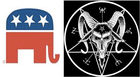 Why did the stars on the Republican Elephant change? : conspiracy