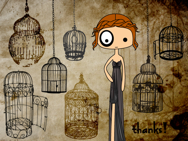 ilustración foltys vs the bird cages (100% handmade with ♥)