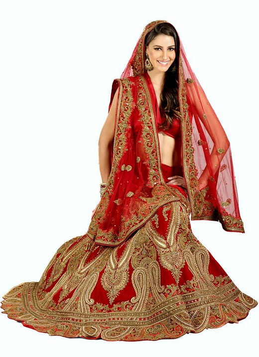 Bridal lehengas 2013 2014 indian embroidered bridal for Most expensive wedding dress in india