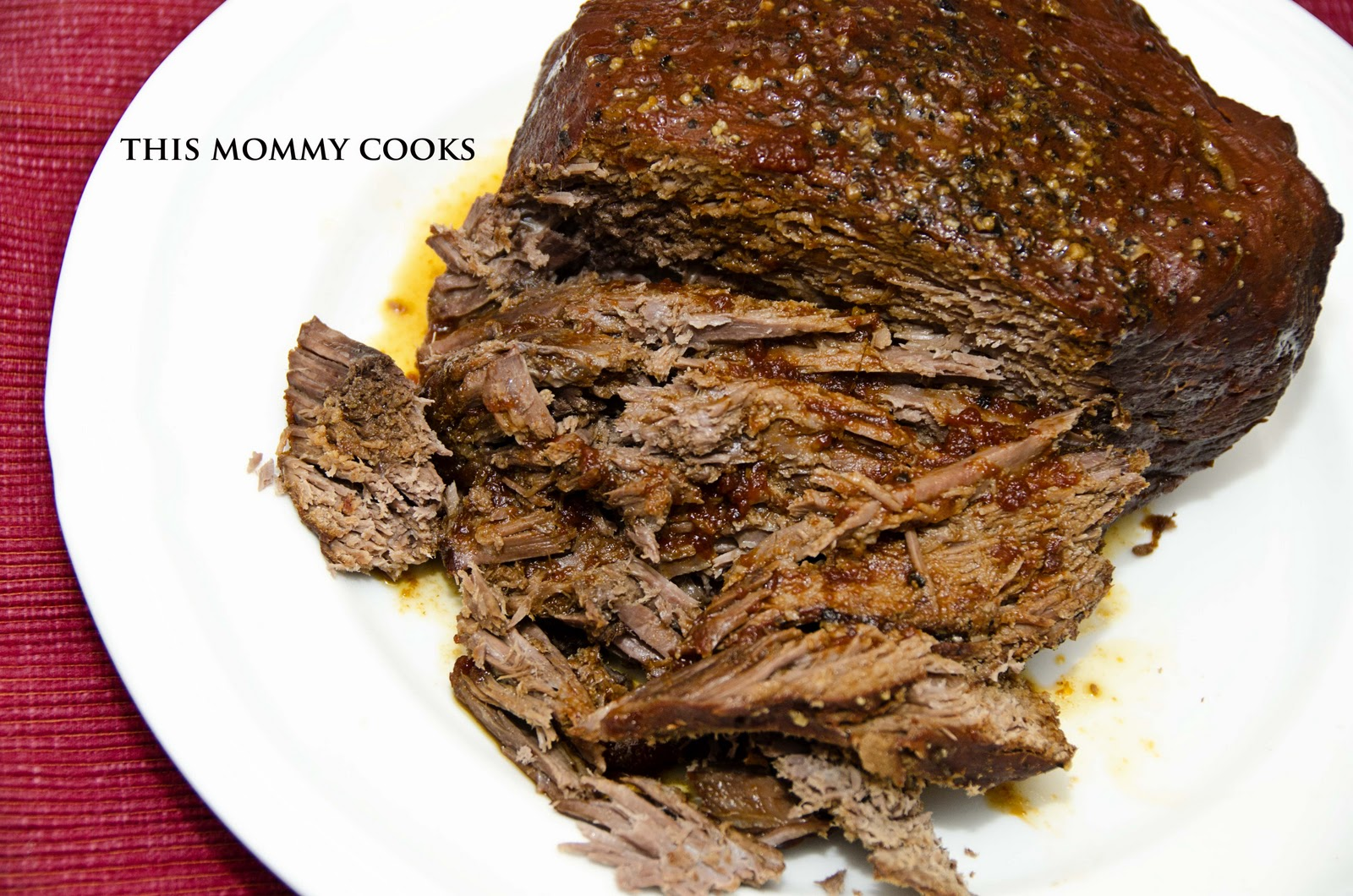 This Mommy Cooks: Slow Cooked Barbecued Beef {Slow Cooker}