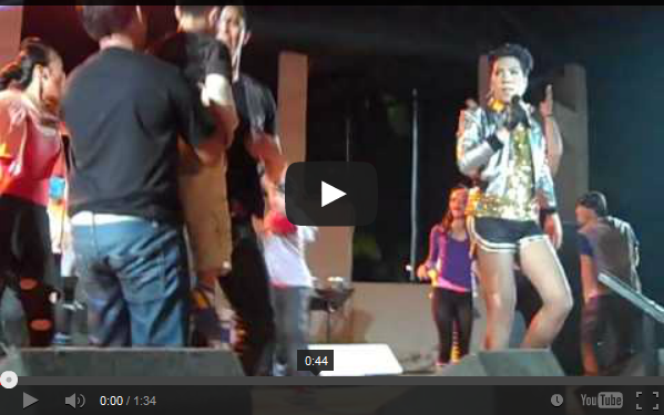 Vhong was performing together with Vice Ganda concert at the Island Cove Hotel and Leisure Park in Cavite
