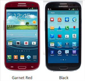 Samsung Galaxy S3 in black - garnet red