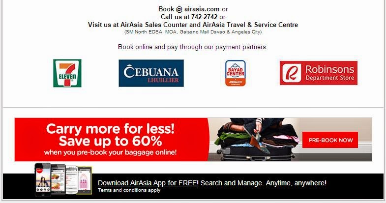 Air Asia: 20% Off! All Seats, All Flights!
