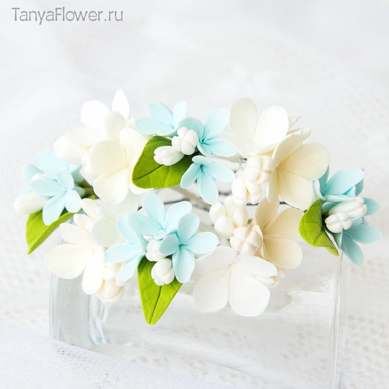 свадебные шпильки с цветами