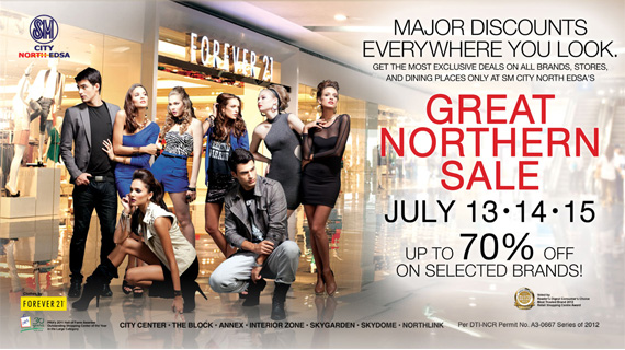 GREAT NORTHERN SALE in SM City North Edsa on JULY 13-14-15, 2012