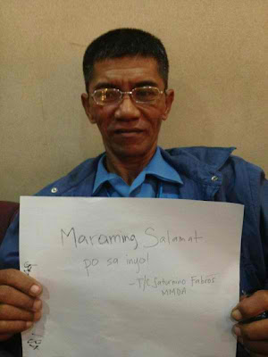 Assaulted MMDA Officer Saturnino Sonny Fabros Fan Sign