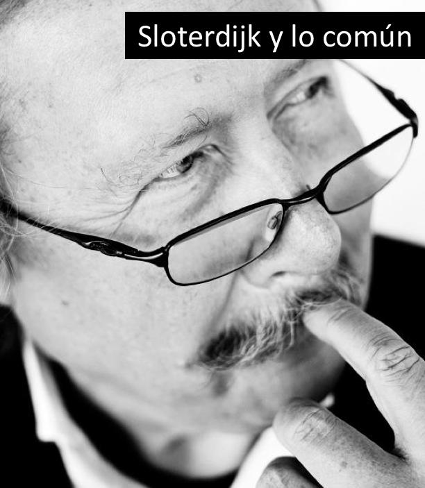 """Grupo """"Sloterdijk y lo Común"""""""
