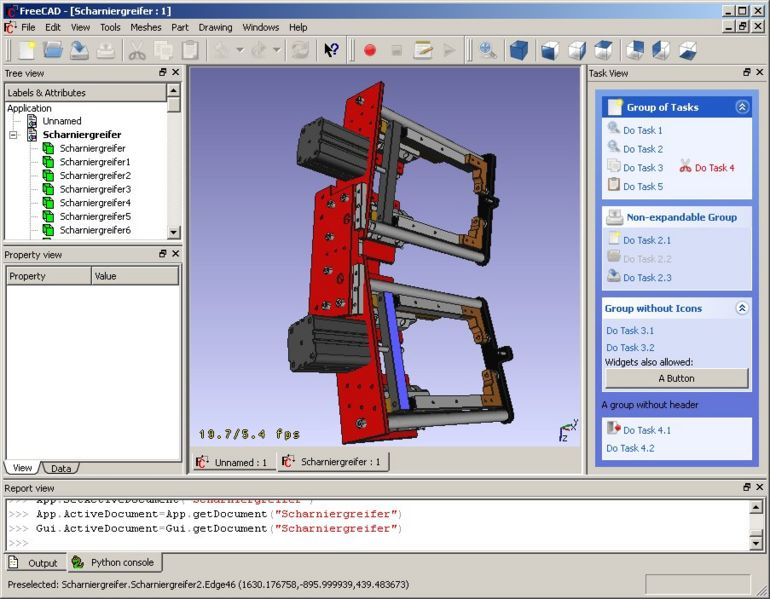Freecad open source 3d cad mcad cax cae plm modeler for Simple 3d cad software free
