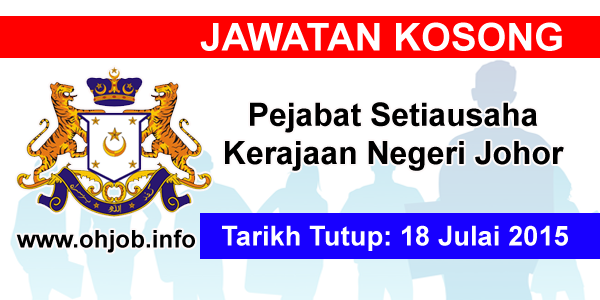 Jawatan Kerja Kosong Pejabat Setiausaha Kerajaan Negeri Johor logo www.ohjob.info julai 2015