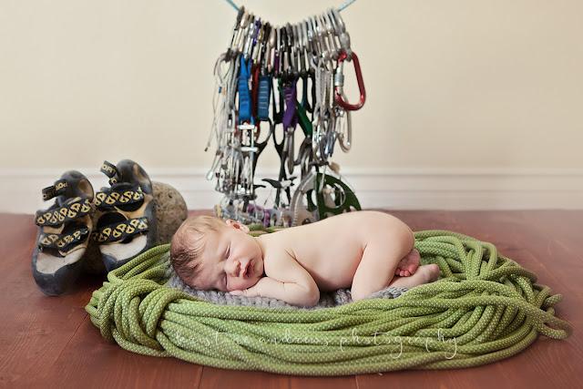newborn rock climbing