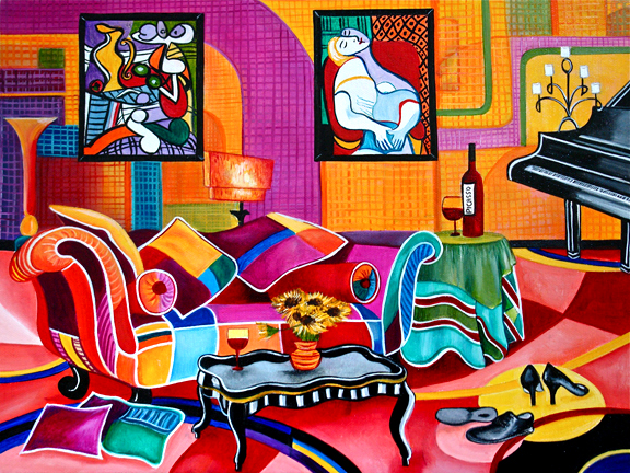 Pablo Picasso Inspired Interior Painting By K Madison Moore Romancing  Picasso