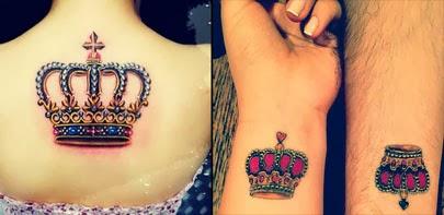 Fotos de tatuagens de coroa fofas