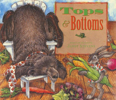 http://www.amazon.com/Tops-Bottoms-Caldecott-Honor-Book/dp/0152928510/ref=sr_1_1?ie=UTF8&qid=1395953691&sr=8-1&keywords=tops+and+bottoms