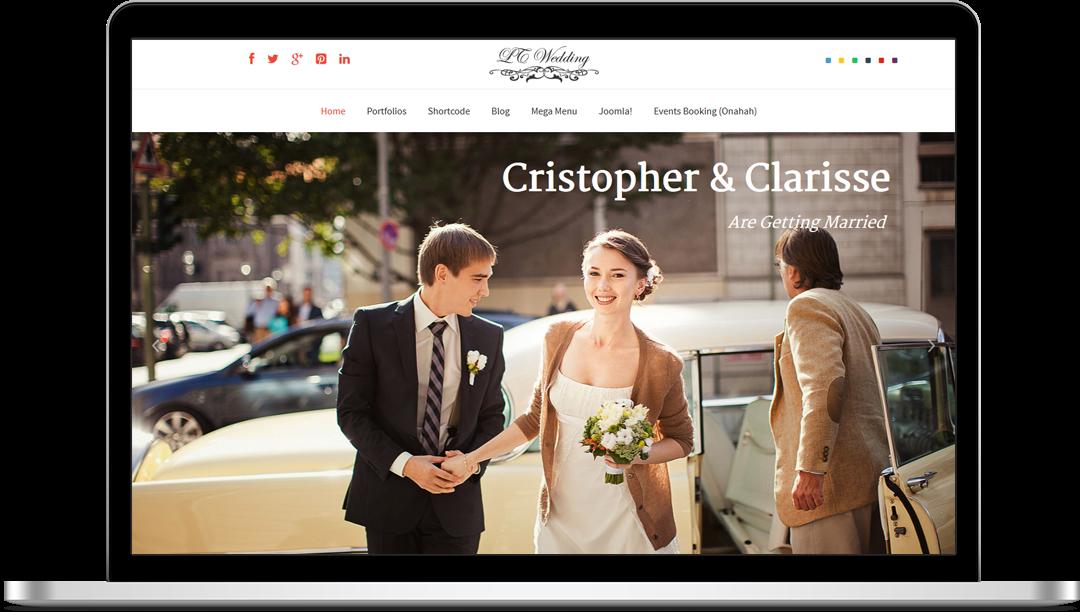 LT Wedding - Free Joomla! Template