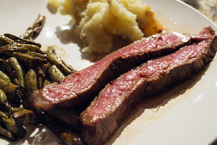Zen Kitchen: Asian Marinated Flank Steak With Wasabi Mashed Potatoes