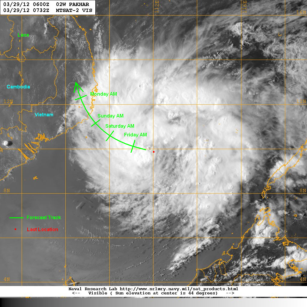 computer models are in better agreement with regards to the track with the exception of the nogaps model which keeps pakhar very weak and brings it south