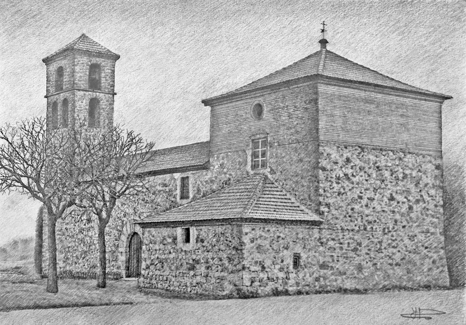 Villabr zaro vivo dibujo de la iglesia - Casas dibujadas a lapiz ...
