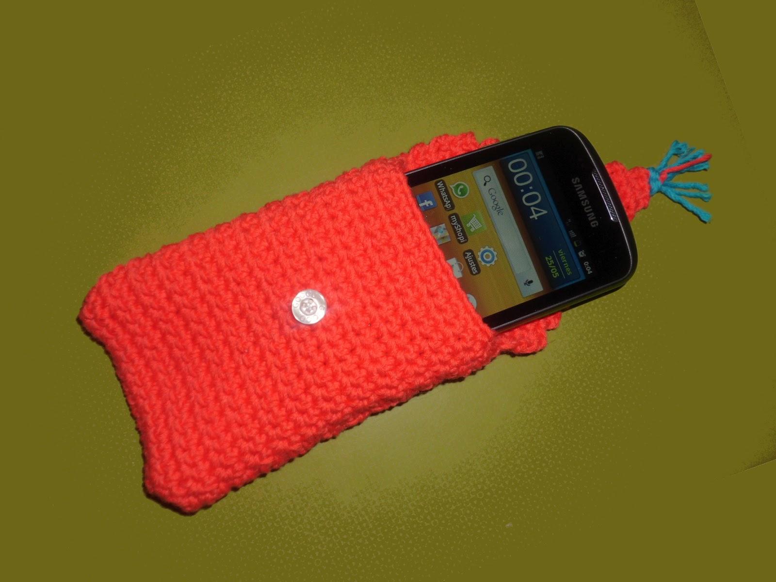 funda smartphone crochet