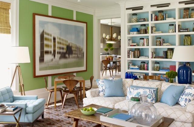 decorar con azul y verde