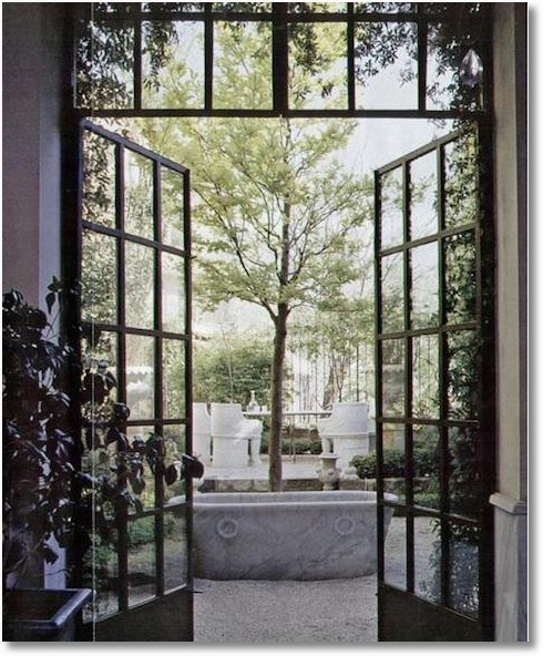 Black french doors frog hill designs blog for Black steel exterior french doors