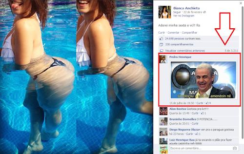 O comentário mais estranho do facebook ..