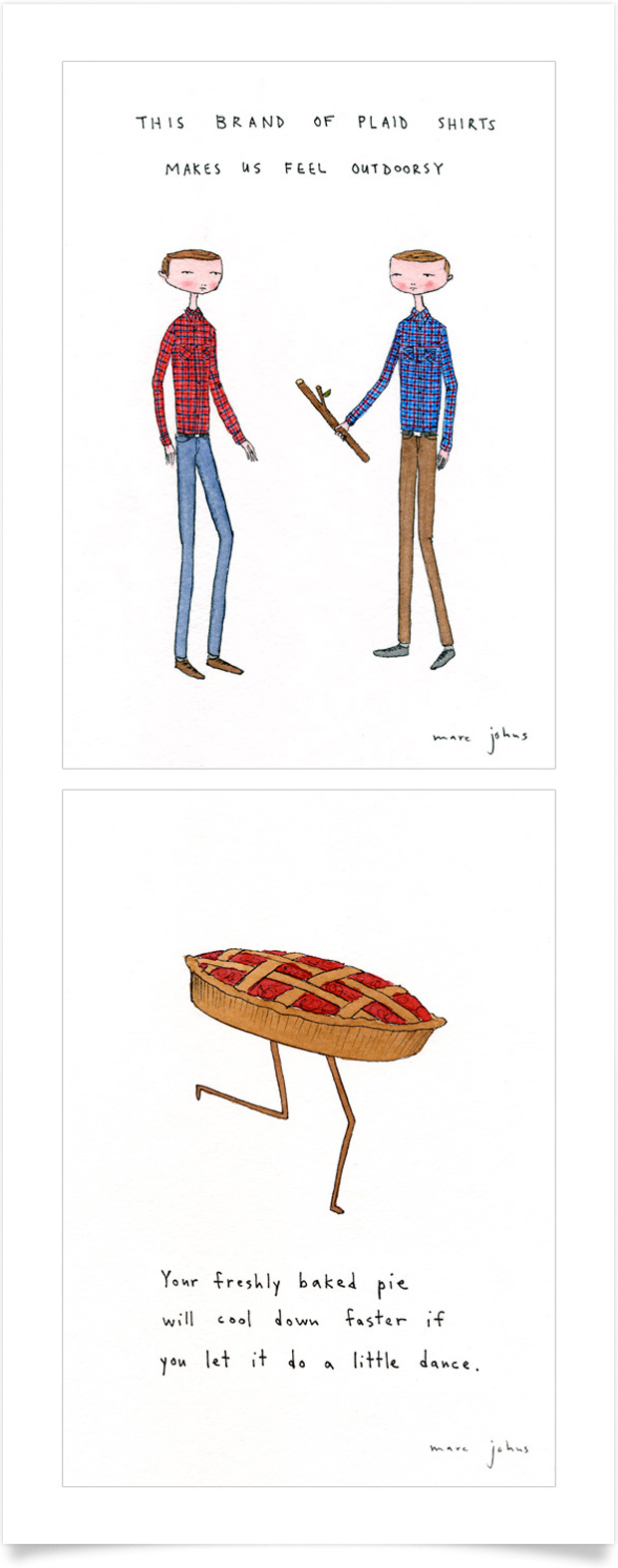 drawings by Marc Johns