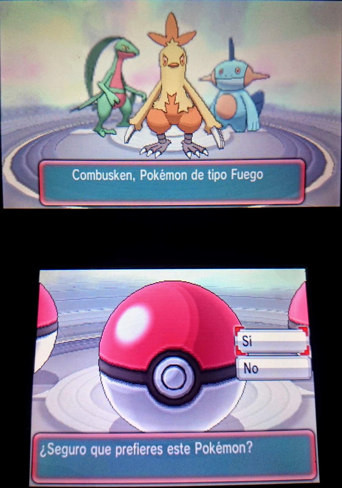 pokemon iniciales demo especial rubi zafiro