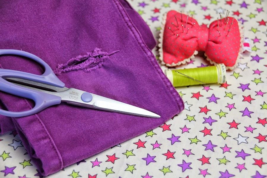 Arreglo facil de ropa - Decorar pantalones vaqueros ...