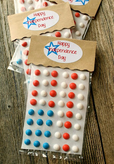Red, White,and Blue Candy Buttons by Sweet Sugar Belle.