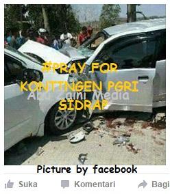 Duka Pgri Sidrap Bone Sulsel Akibat Insiden Kecelakaan Yang Tewaskan Kepala Smkn 1 Panca
