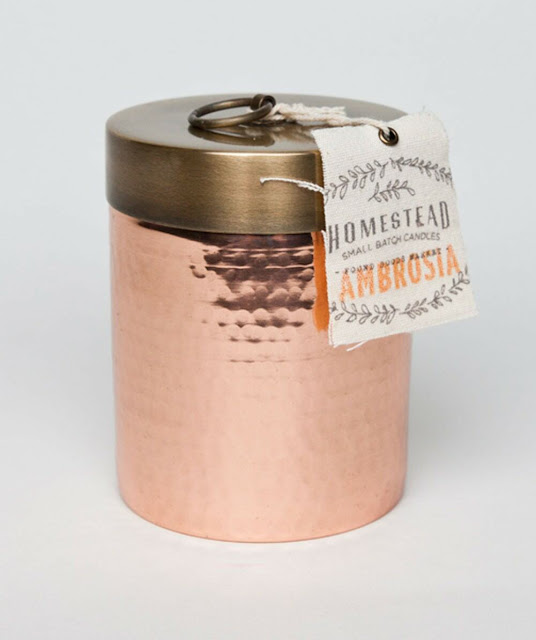 Found Goods Market Copper Canister Candle