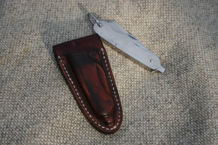 Wet mould sheath for MOD style penknife.