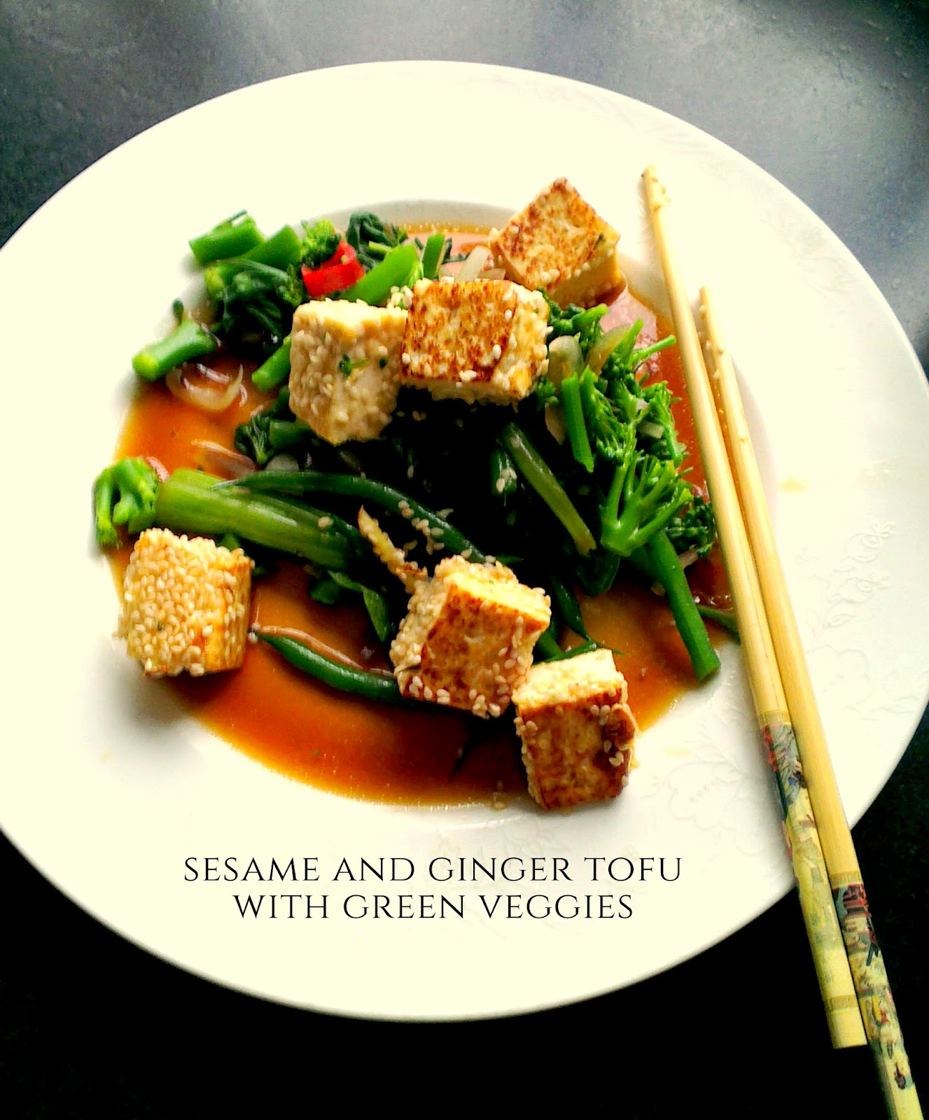 Crispy sesame and ginger tofu