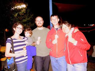 Jen, Wesley, Jay, Sky and I at Amy's Ice Cream