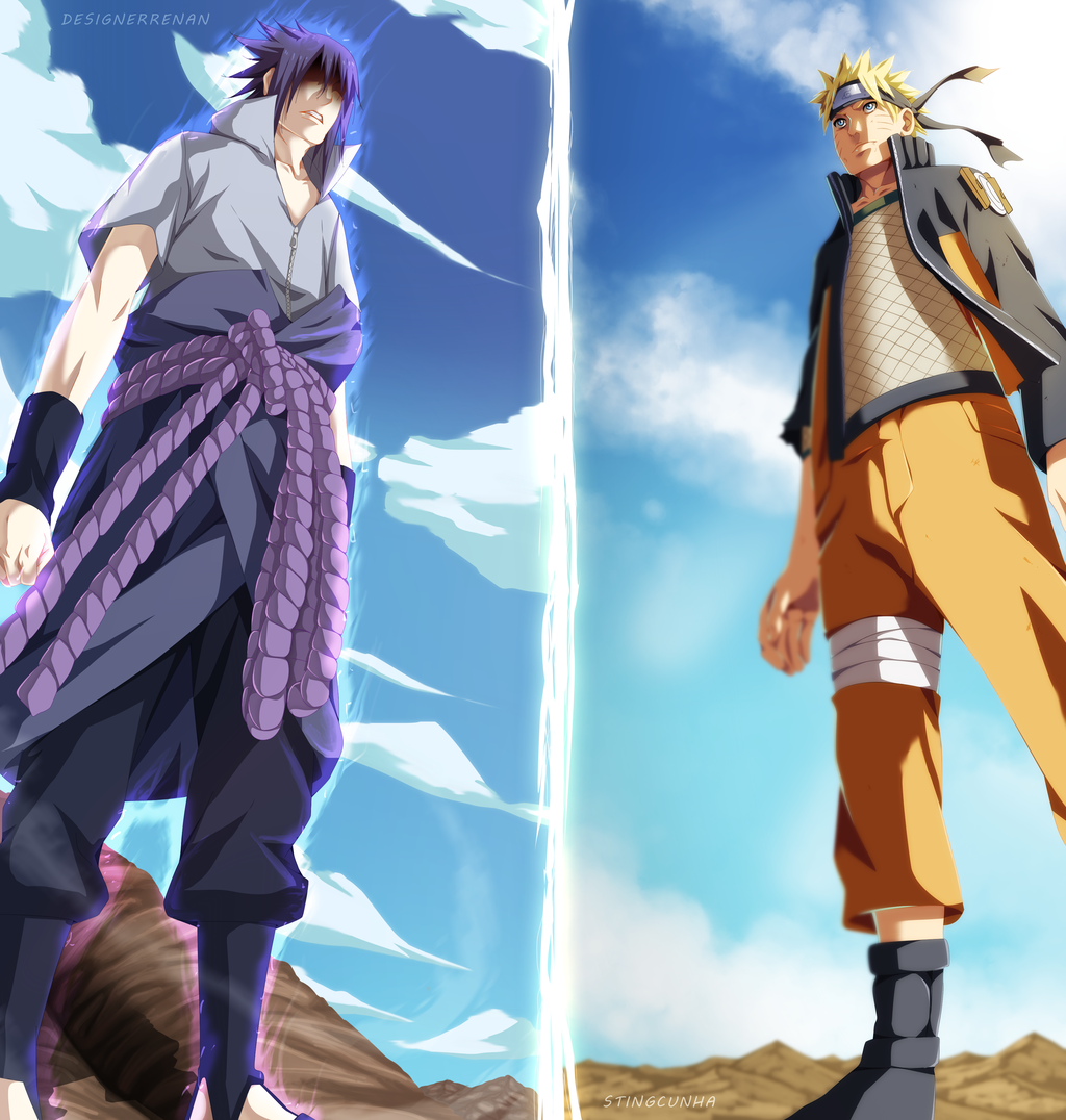 The anime reign naruto vs sasuke color pages - Naruto and sasuki ...
