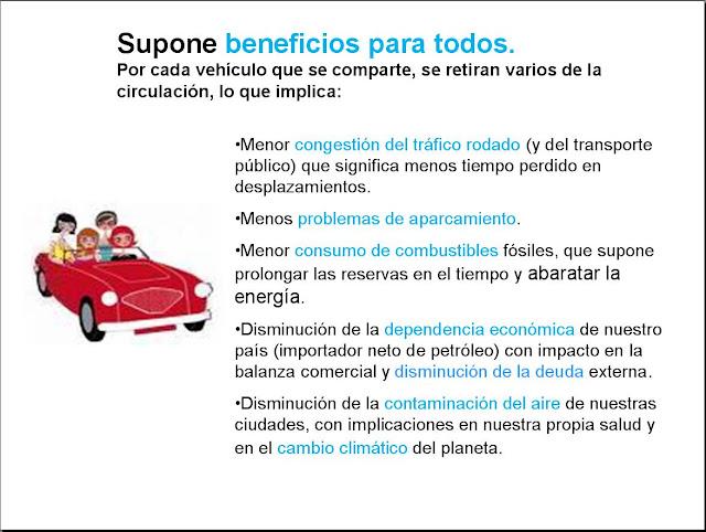 Beneficios de compartir viaje en coche