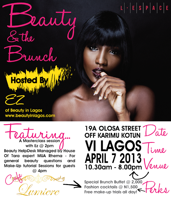 "L'Espace Presents ""Beauty and the Brunch"" – Sunday 7th April, 2013"