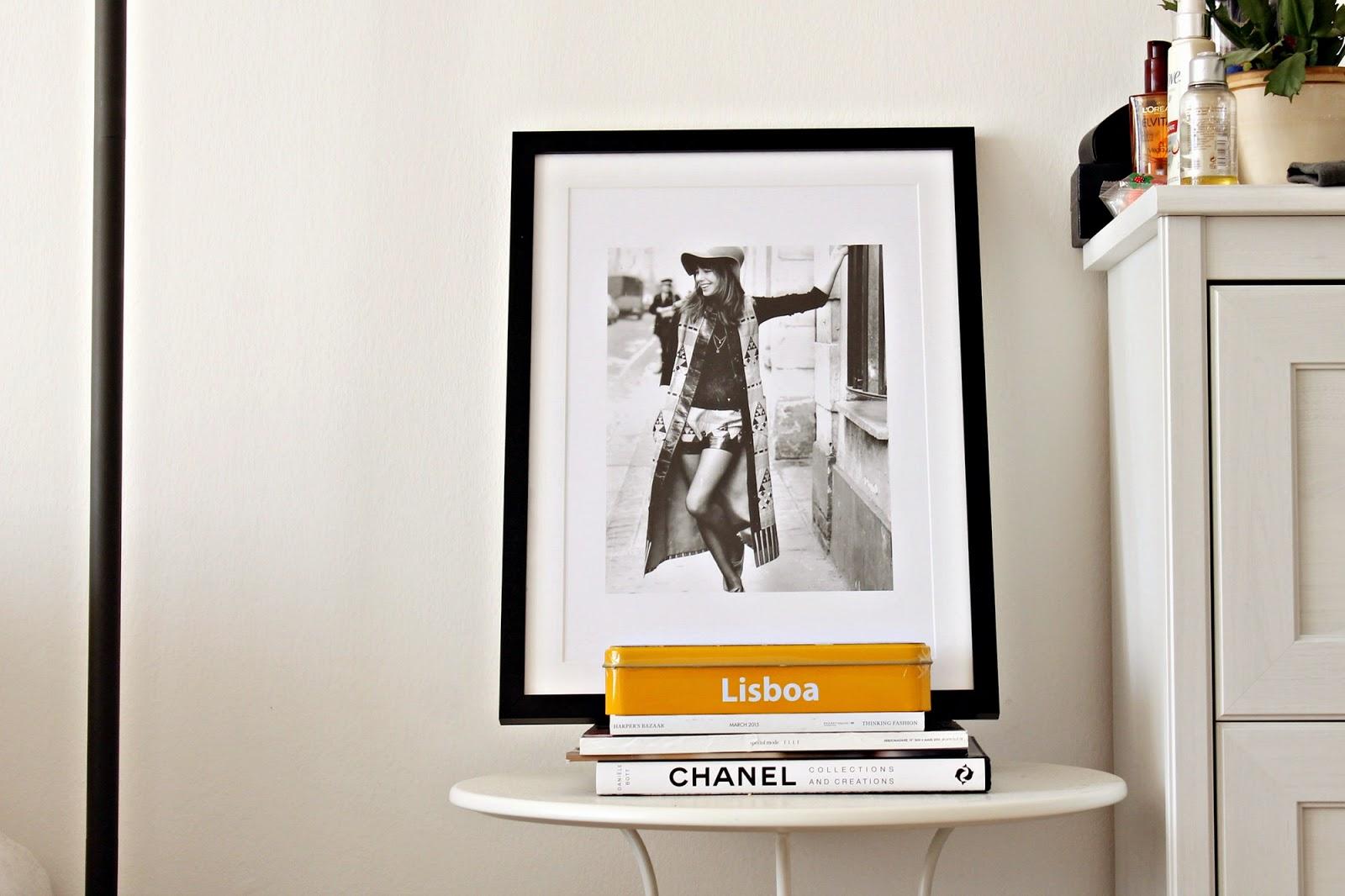 Juniqe Fashion Print Interior Inspiration Pinterest Jane Birking wearing YSL Chanel Mango Pointy Heels