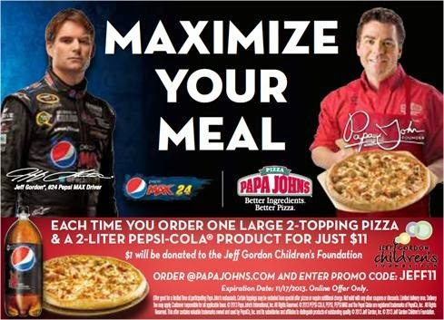Order A Large Papa John's Pizza and $1 will be donated to help cancer kids.