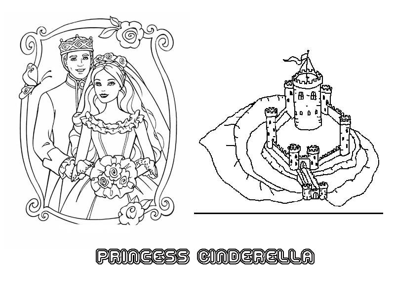 Free Coloring Pages Of Disney Cinderella Castle