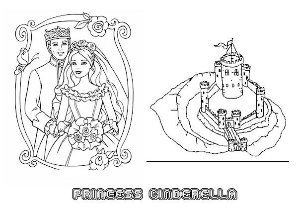 Cinderella step mom coloring page for Cinderella castle coloring page