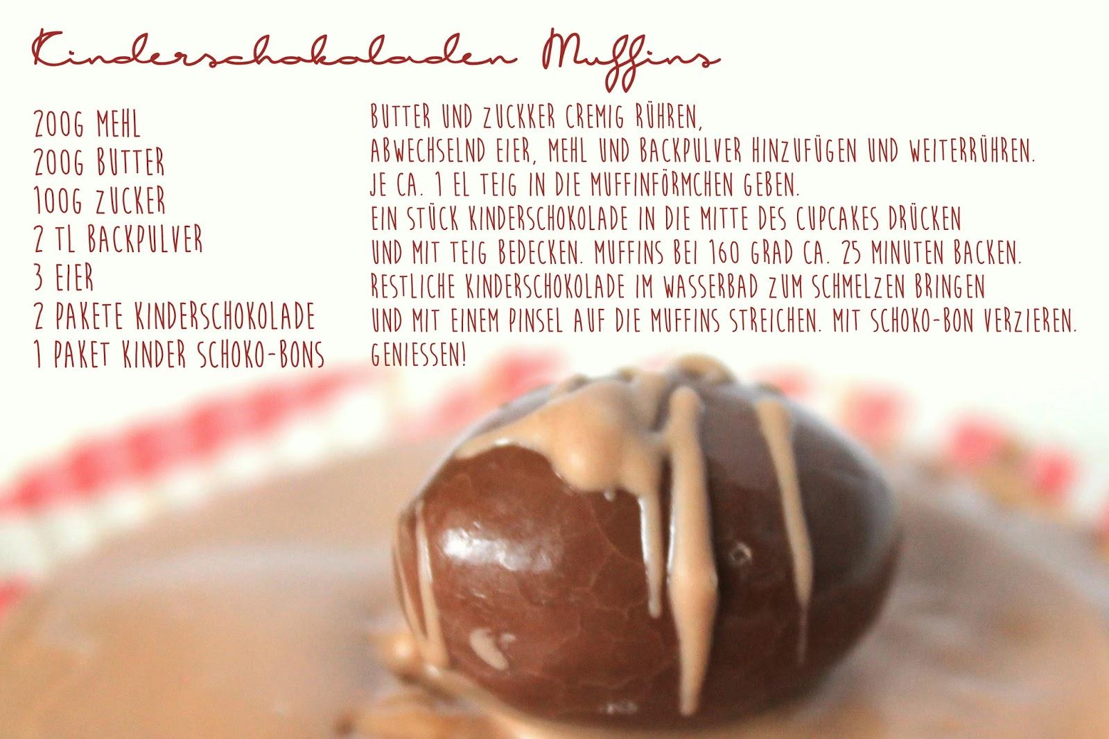 Rezept Kinderschokoladen-Muffins mit Schoko-Bon