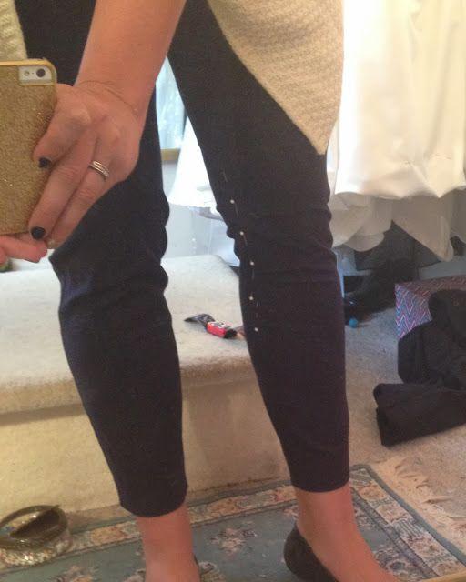 slimming the knees on pants