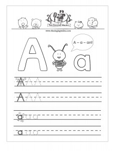 math worksheet : kids esl all about teaching english to kids! great handwriting  : Alphabet Writing Practice Worksheets For Kindergarten