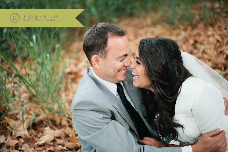 Cute moments with the bride and groom : Photo by Paige and Blake Green
