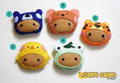 Animal Costume Keychain (HOT and FAST SELLING)