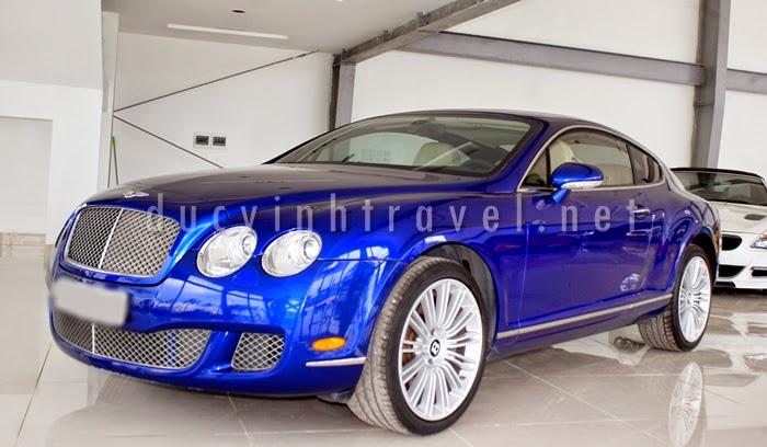 Cho thuê xe Bentley Continental GT Speed Xanh